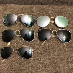 Five Pairs of Authentic Ray Bans